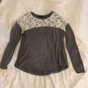 F21 Grey Lace Henly